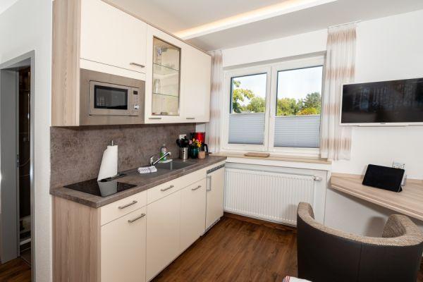 Küche im Apartment Pader