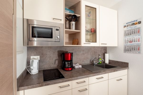 Küche im Apartment Alme
